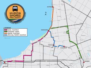 Huron Shores Area Transit Route Map